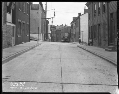 Street Improvement Photographs -- Box 41, Folder 26 (Mohawk Street) -- negative, 1932-06-30
