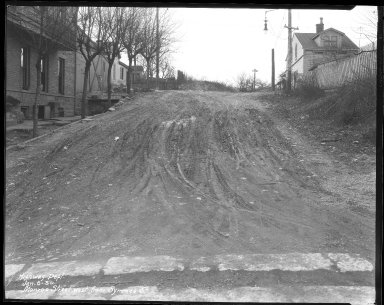 Street Improvement Photographs -- Box 41, Folder 27 (Monroe Street) -- negative, 1930-01-06