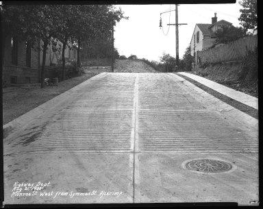 Street Improvement Photographs -- Box 41, Folder 27 (Monroe Street) -- negative, 1930-08-21