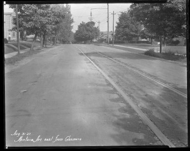 Street Improvement Photographs -- Box 41, Folder 28 (Montana Avenue) -- negative, 1927-08-31