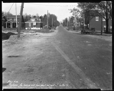 Street Improvement Photographs -- Box 41, Folder 28 (Montana Avenue) -- negative, 1928-05-03