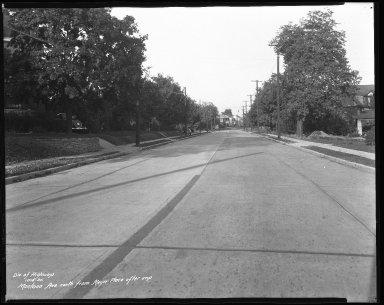 Street Improvement Photographs -- Box 41, Folder 31 (Montana Avenue) -- negative, 1935-10-15