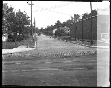 Street Improvement Photographs -- Box 41, Folder 35 (Montana Avenue) -- negative, 1935