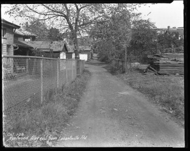 Street Improvement Photographs -- Box 42, Folder 02 (Montwood Alley) -- negative, 1928-10-01