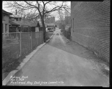 Street Improvement Photographs -- Box 42, Folder 02 (Montwood Alley) -- negative, 1929-11-07