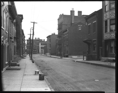 Street Improvement Photographs -- Box 42, Folder 06 (Mound Street) -- negative, 1928