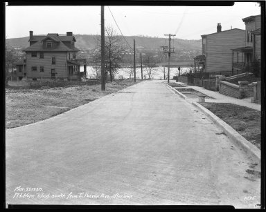 Street Improvement Photographs -- Box 42, Folder 07 (Mt. Hope Avenue) -- negative, 1929-03-27