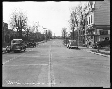 Street Improvement Photographs -- Box 42, Folder 08 (Muddy Creek Road) -- negative, 1939-12-22