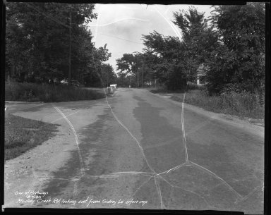 Street Improvement Photographs -- Box 42, Folder 08 (Muddy Creek Road) -- negative, 1939-08-09