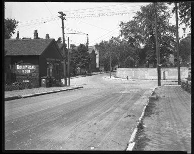 Street Improvement Photographs -- Box 42, Folder 12 (Myrtle Avenue) -- negative, 1928