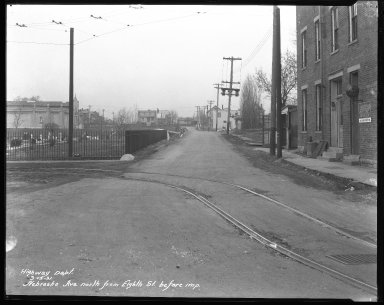 Street Improvement Photographs -- Box 42, Folder 14 (Nebraska Avenue) -- negative, 1931-03-13