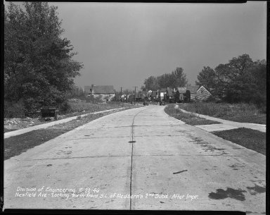 Street Improvement Photographs -- Box 42, Folder 16 (Newfield Avenue) -- negative, 1946-10-22