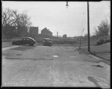 Street Improvement Photographs -- Box 42, Folder 16 (Newfield Avenue) -- negative, 1946