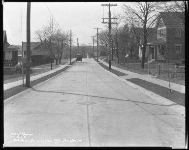 Street Improvement Photographs -- Box 42, Folder 17 (Nicholson Avenue) -- negative, 1932-04-05