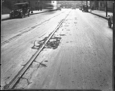 Street Improvement Photographs -- Box 42, Folder 18 (Ninth Street) -- negative, 1920