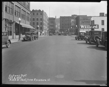 Street Improvement Photographs -- Box 42, Folder 19 (Ninth Street) -- negative, 1929-10-08