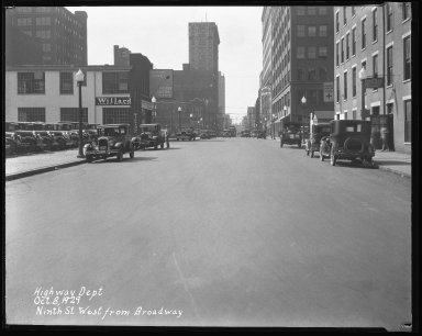 Street Improvement Photographs -- Box 42, Folder 19 (Ninth Street) -- negative, 1929-10-08