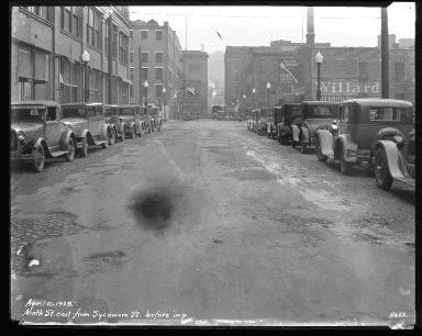 Street Improvement Photographs -- Box 42, Folder 20 (Ninth Street) -- negative, 1929-04-10