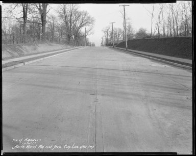 Street Improvement Photographs -- Box 42, Folder 23 (North Bend Road) -- negative, 1931-12-17