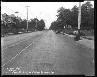 Street Improvement Photographs -- Box 42, Folder 23 (North Bend Road) -- negative, 1931-08-18