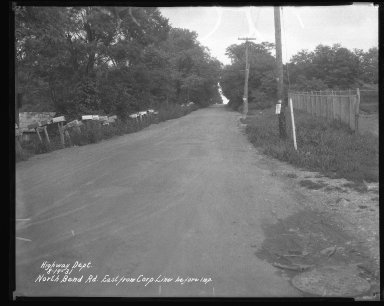 Street Improvement Photographs -- Box 42, Folder 23 (North Bend Road) -- negative, 1931-08-19