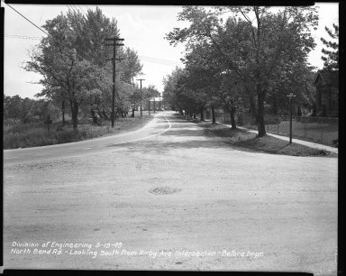 Street Improvement Photographs -- Box 42, Folder 24 (North Bend Road) -- negative, 1949-05-19