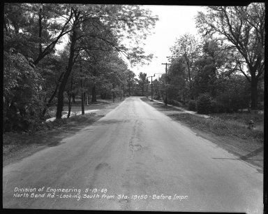 Street Improvement Photographs -- Box 42, Folder 25 (North Bend Road) -- negative, 1949-05-19