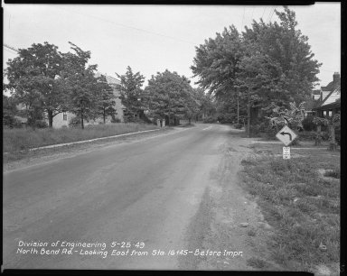 Street Improvement Photographs -- Box 42, Folder 25 (North Bend Road) -- negative, 1949-05-25