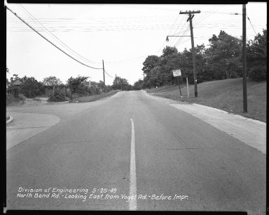 Street Improvement Photographs -- Box 42, Folder 26 (North Bend Road) -- negative, 1949-05-25