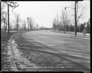 Street Improvement Photographs -- Box 42, Folder 28 (North Bend Road) -- negative, 1951-01-17