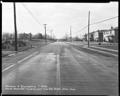 Street Improvement Photographs -- Box 42, Folder 28 (North Bend Road) -- negative, 1951-01-19