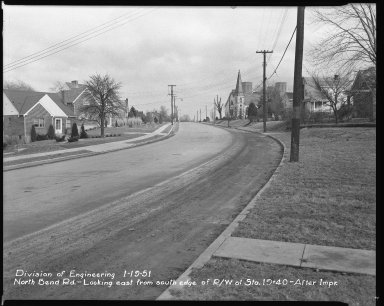 Street Improvement Photographs -- Box 42, Folder 29 (North Bend Road) -- negative, 1951-01-19