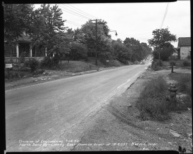 Street Improvement Photographs -- Box 42, Folder 30 (North Bend Road) -- negative, 1952-07-15