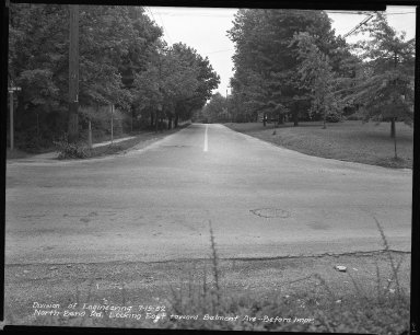 Street Improvement Photographs -- Box 42, Folder 31 (North Bend Road) -- negative, 1952-07-15