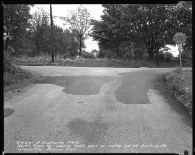 Street Improvement Photographs -- Box 42, Folder 32 (North Bend Road) -- negative, 1952-07-15