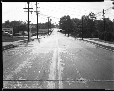 Street Improvement Photographs -- Box 42, Folder 35 (North Bend Road) -- negative, 1955-05-17