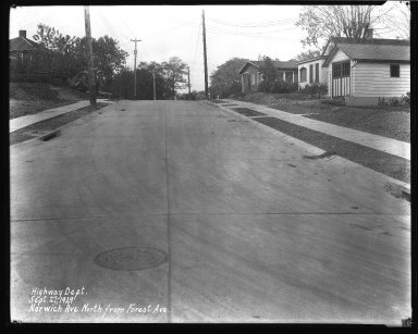 Street Improvement Photographs -- Box 42, Folder 39 (Norwich Avenue) -- negative, 1929-09-27