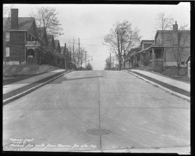 Street Improvement Photographs -- Box 42, Folder 41 (Oakland Avenue) -- negative, 1931-02-24