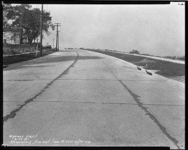 Street Improvement Photographs -- Box 42, Folder 43 (Observatory Avenue) -- negative, 1930-09-22