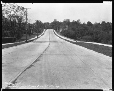 Street Improvement Photographs -- Box 42, Folder 43 (Observatory Avenue) -- negative, 1930-09-22
