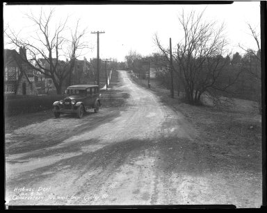 Street Improvement Photographs -- Box 42, Folder 43 (Observatory Avenue) -- negative, 1930-01-06
