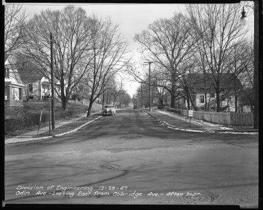 Street Improvement Photographs -- Box 42, Folder 45 (Odin Avenue) -- negative, 1947-12-29