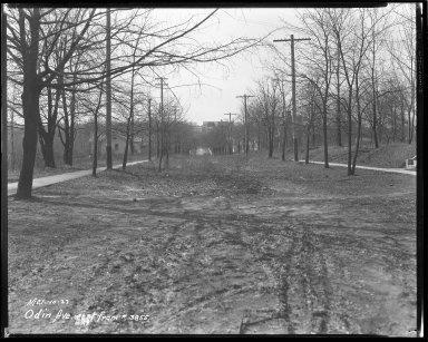Street Improvement Photographs -- Box 42, Folder 46 (Odin Avenue) -- negative, 1927-03-10