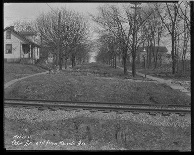 Street Improvement Photographs -- Box 42, Folder 47 (Odin Avenue) -- negative, 1927-03-10