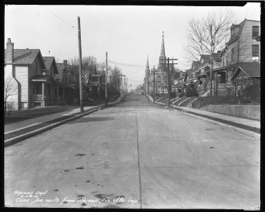 Street Improvement Photographs -- Box 42, Folder 48 (Olive Avenue) -- negative, 1931-02-24