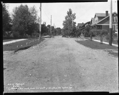 Street Improvement Photographs -- Box 42, Folder 50 (O'Meara Place) -- negative, 1932-08-04