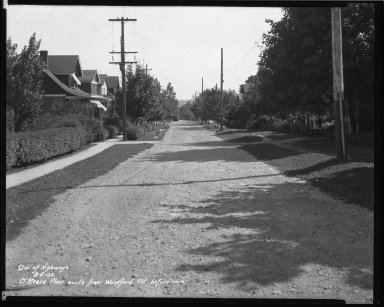 Street Improvement Photographs -- Box 42, Folder 50 (O'Meara Place) -- negative, 1932-08-04