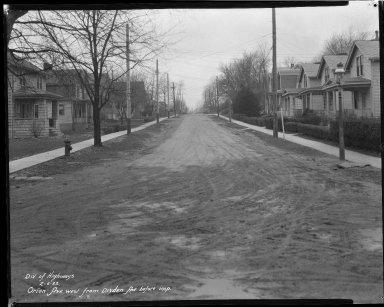 Street Improvement Photographs -- Box 42, Folder 52 (Orion Avenue) -- negative, 1932-02-06