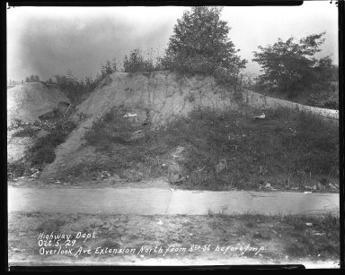Street Improvement Photographs -- Box 42, Folder 53 (Overlook Avenue) -- negative, 1929-10-05