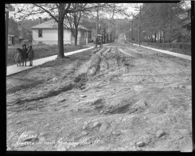 Street Improvement Photographs -- Box 42, Folder 54 (Owasco Street) -- negative, 1927-04-23